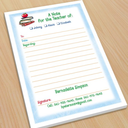 Apple School Books Excuse Pad