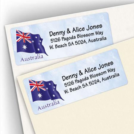 Austrailian Flag Address Labels