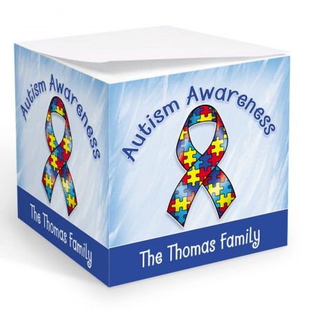 Autism Awarness Memo Cube