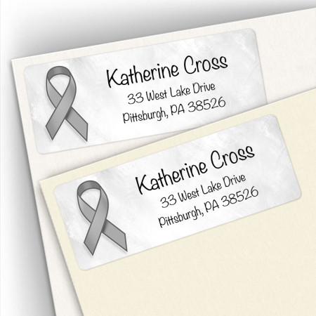 Awareness Ribbon Brain Cancer Address Labels