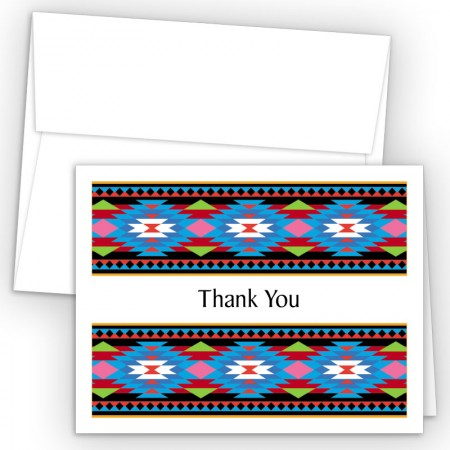 Aztec Pattern 1 Thank You Cards