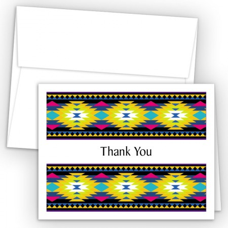 Aztec Pattern 2 Thank You Cards