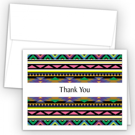 Aztec Pattern 3 Thank You Cards