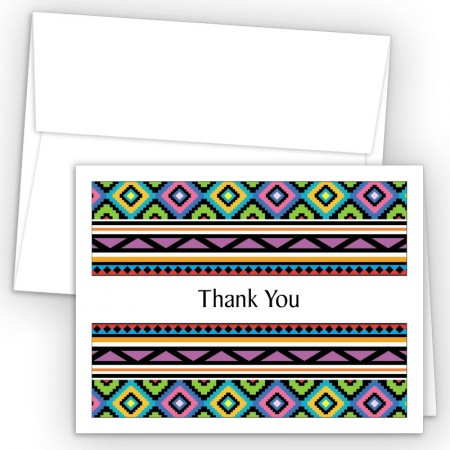 Aztec Pattern 4 Thank You Cards