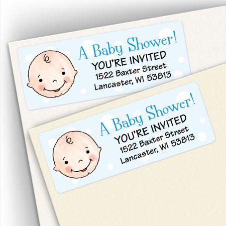 Baby Shower Address Labels Boy 1