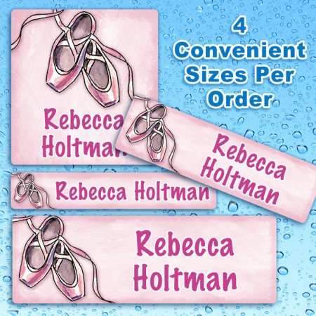 Ballet Slippers Waterproof Name Labels For Kids