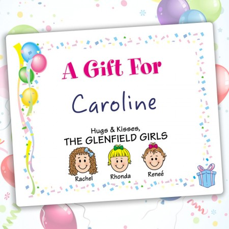 Balloons Family Gift Labels