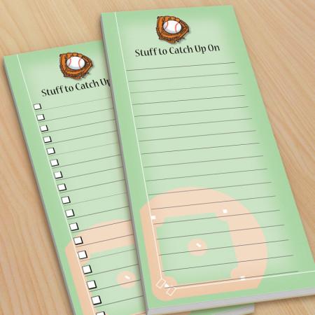 Baseball To-Do Pads