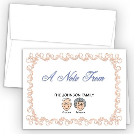 Beginnings Foldover Family Note Card