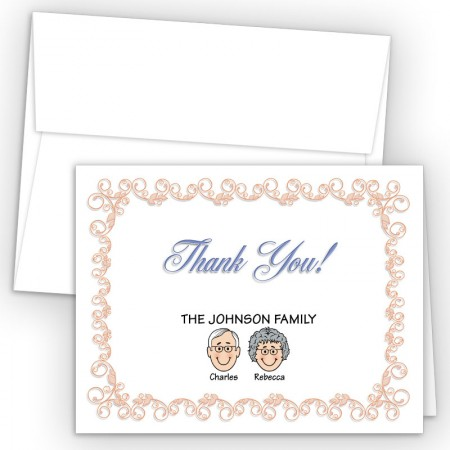 Beginnings Foldover Family Thank You Card