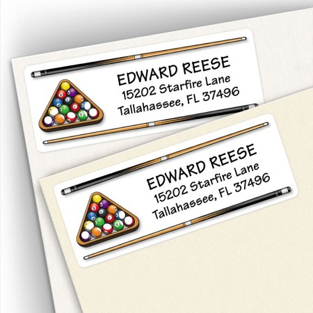 Billiard Address Labels