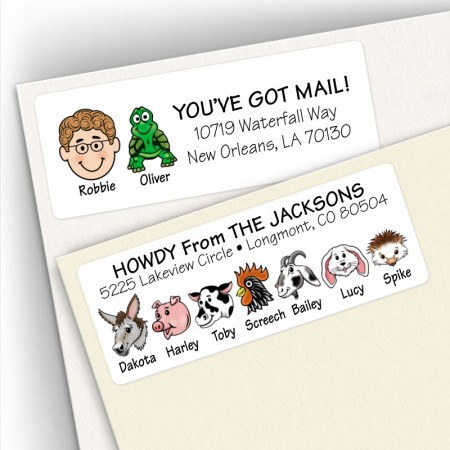 Birds, Fish, Cows and More Address Labels