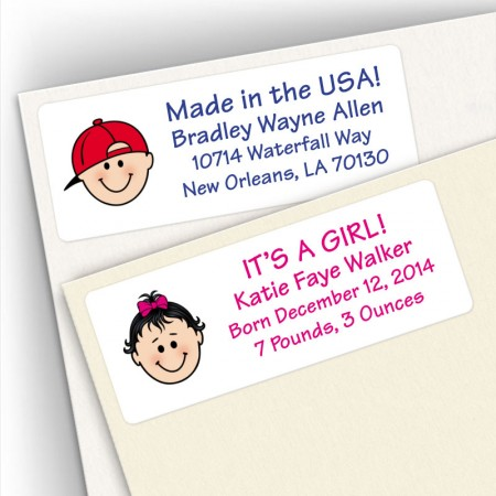 Birth Announcement Address Labels