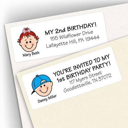 Birthday Address Labels