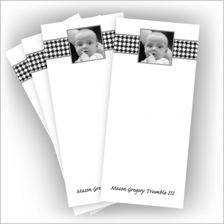 "Black Houndstooth Photo Pads - 3.5"" x 8"""