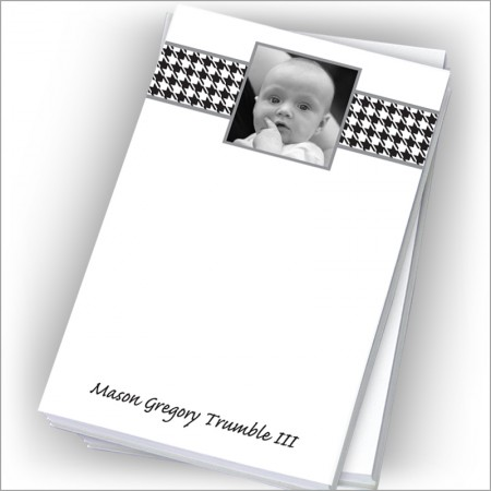 """Black Houndstooth Photo Pads - 4"""" x 6"""""""