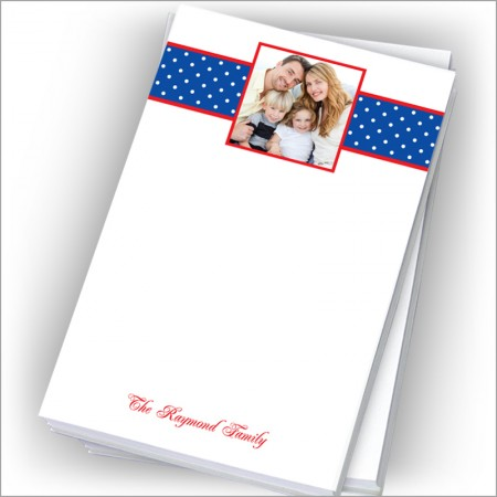 "Blue Dotted Swiss Photo Pads - 4"" x 6"""