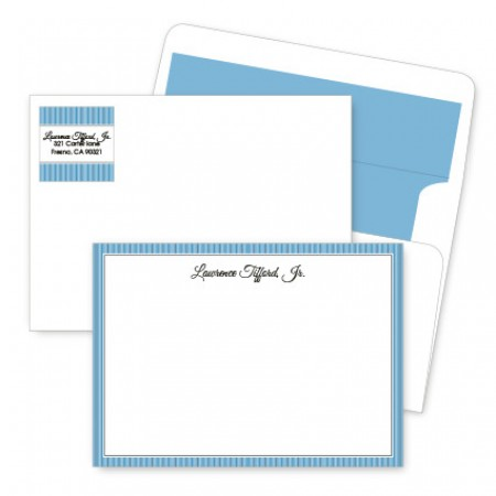 Blue Stripes Artistic Correspondence Card Ensembles