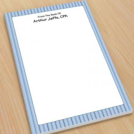 Blue Stripes Large Note Pads