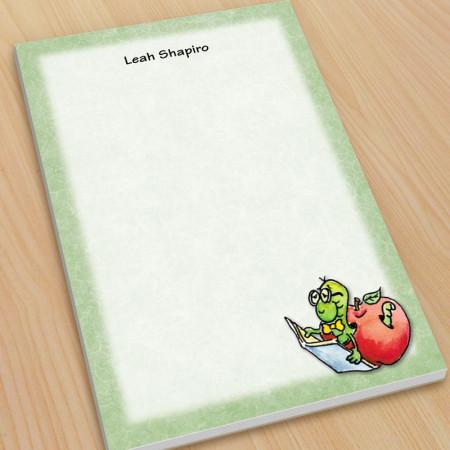 Bookworm Teacher Large Note Pads