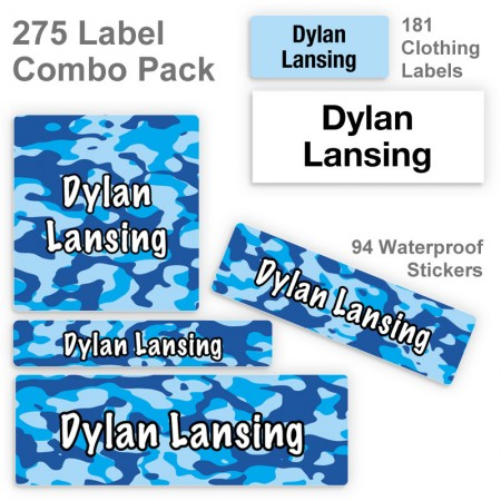 Blue Camo Label Combo Pack