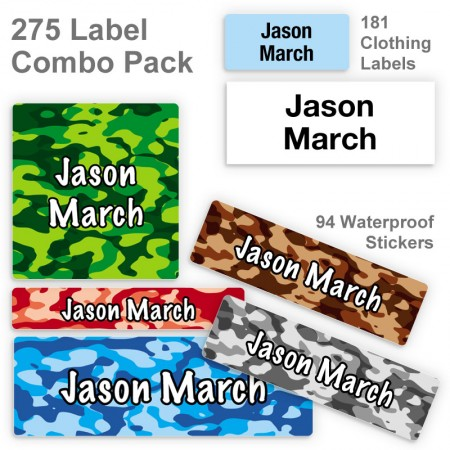 Boy Camo Label Combo Pack