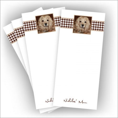 """Brown Houndstooth Photo Pads - 3.5"""" x 8"""""""