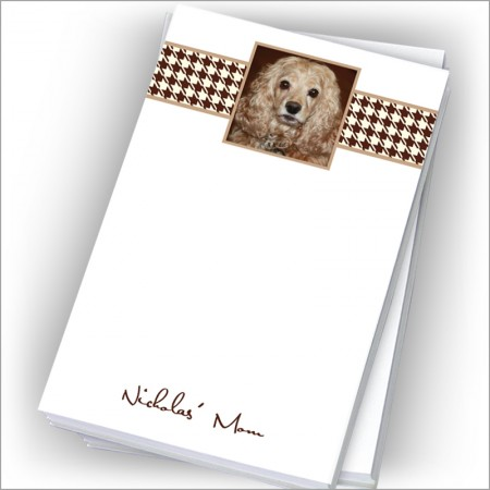 "Brown Houndstooth Photo Pads - 4"" x 6"""
