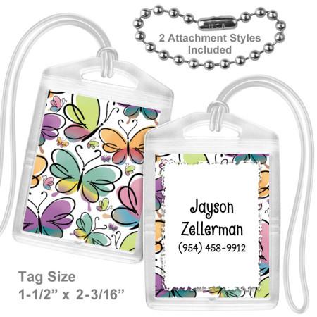 Butterflies 2 Mini Bag Tag