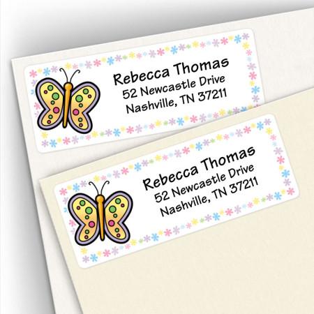 Butterfly 6 Address Labels