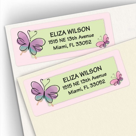 Butterfly Pair Address Labels