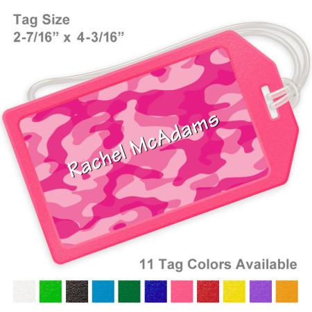 amo Pink Luggage Tag
