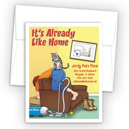Cat On Butt Moving Card
