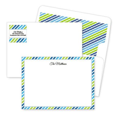 Diagonal Stripes 2 Artistic Correspondence Card Ensembles