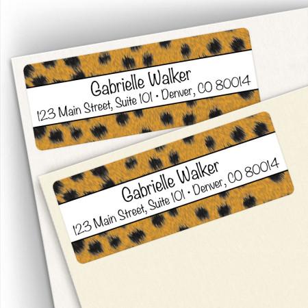 Cheetah Pattern Address Labels