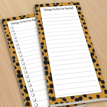 Cheetah Pattern To-Do Pads