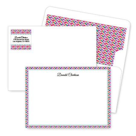 Chevron 1 Artistic Correspondence Card Ensembles