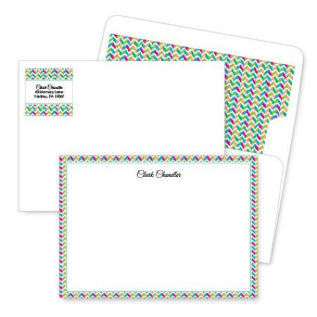 Chevron 2 Artistic Correspondence Card Ensembles