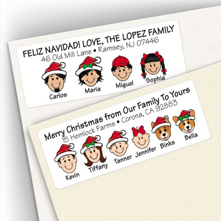 caricature return address labels christmas address labels