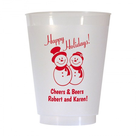 Christmas Cup Design 17 16 oz Personalized Christmas Party Cups