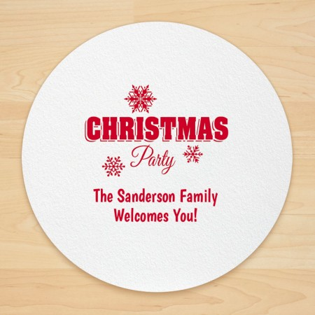 Christmas Design 11 Personalized Christmas Coasters