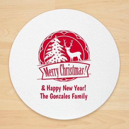 Christmas Design 14 Personalized Christmas Coasters