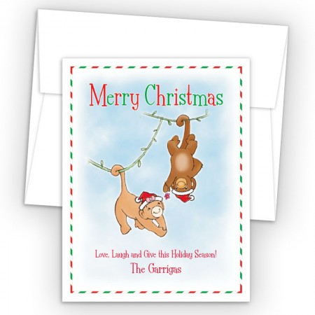 Christmas Monkeys Holiday Cards