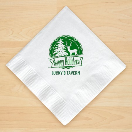 Christmas Napkin Design 13 Personalized Christmas Beverage Napkins