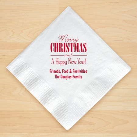 Christmas Napkin Design 20 Personalized Christmas Beverage Napkins