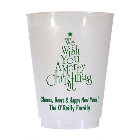 Christmas Tree Design 1 16 oz Personalized Christmas Party Cups