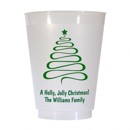 Christmas Tree Design 10 16 oz Personalized Christmas Party Cups