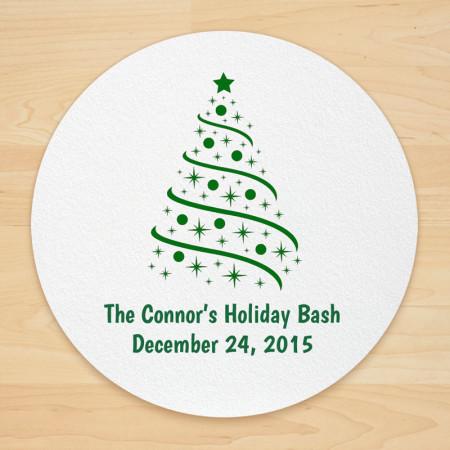Christmas Tree Design 4 Personalized Christmas Coasters