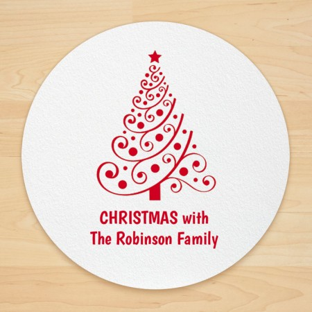 Christmas Tree Design 5 Personalized Christmas Coasters