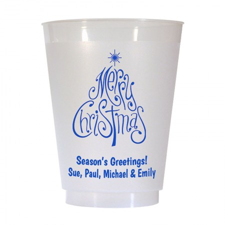 Christmas Tree Design 6 16 oz Personalized Christmas Party Cups